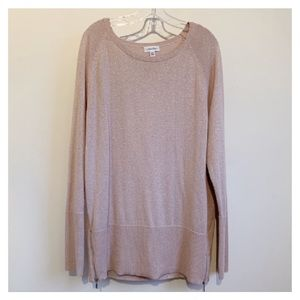 CALVIN KLEIN Sweater with Side Zippers NWOT
